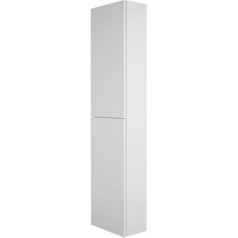 Milano Oxley Bathroom Furniture - 350 x 1500 mm Closed Storage Unit - Matte White