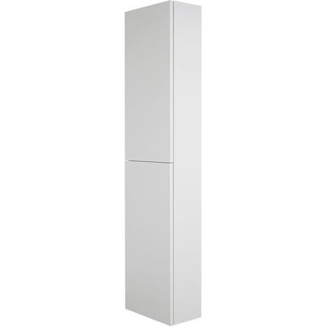 Milano Oxley - White Wall Hung Closed Bathroom Storage Unit - 350mm x 1500mm