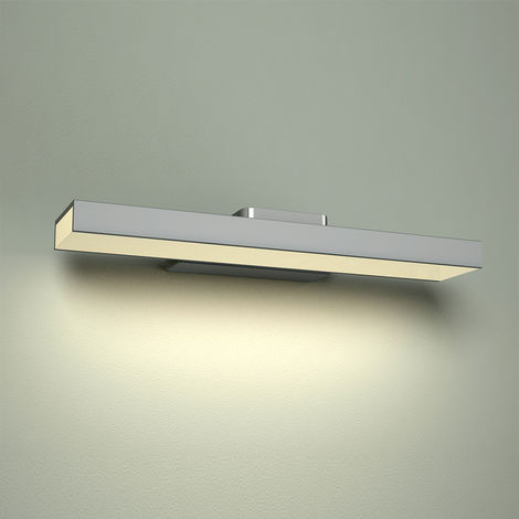 Milano Parade - 8W LED Square Chrome IP44 Bathroom Over Mirror Wall Mounted Light 300mm - Natural White