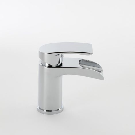 Milano Razor - Modern Mono Waterfall Basin Mixer Tap - Chrome