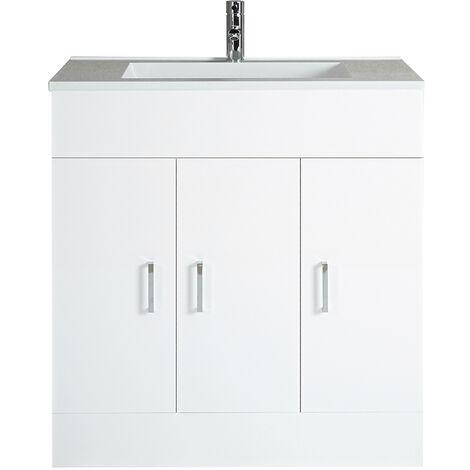 Milano Ren - White 800mm Bathroom Vanity Unit with Basin