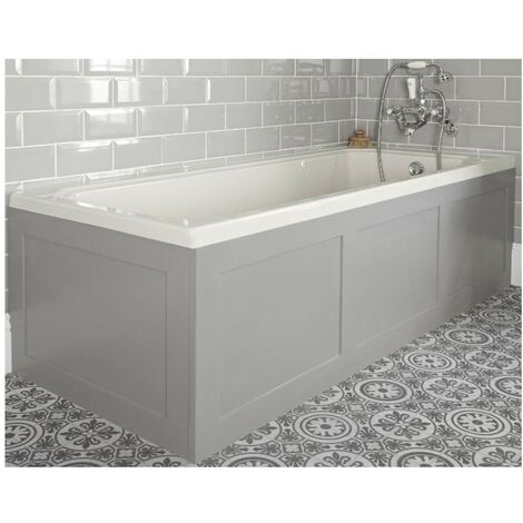 """main image of """"Milano Richmond - White Traditional Bathroom Single Ended Bath with Light Grey Panels - 1700mm x 700mm"""""""
