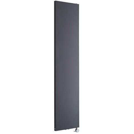 Milano Riso Electric - Modern Anthracite Vertical Designer Radiator - 1800mm x 400mm
