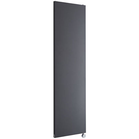 Milano Riso Electric - Modern Anthracite Vertical Designer Radiator - 1800mm x 500mm