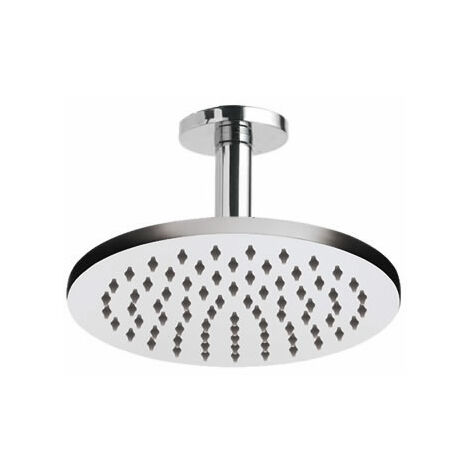 Milano Round 200mm Shower Head and Ceiling Arm