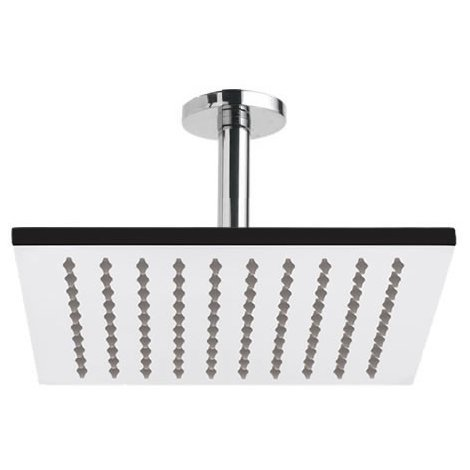 Milano Square 200mm Ceiling Mounted Shower Head & Arm