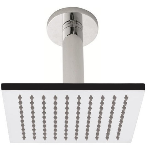 Milano Square 200mm Shower Head and Ceiling Arm