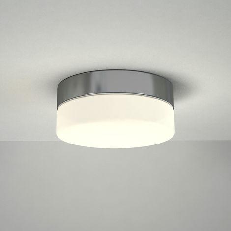 Milano Tama - 12W LED Round Chrome IP44 Bathroom Ceiling Bulkhead Light - Warm White