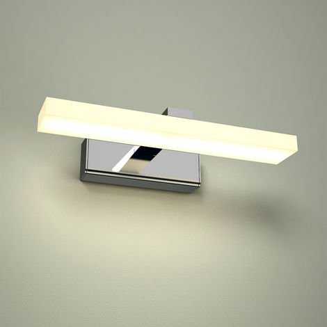 Milano Teifi - 8W LED Square Chrome IP44 Bathroom Over Mirror Wall Mounted Light 300mm - Natural White