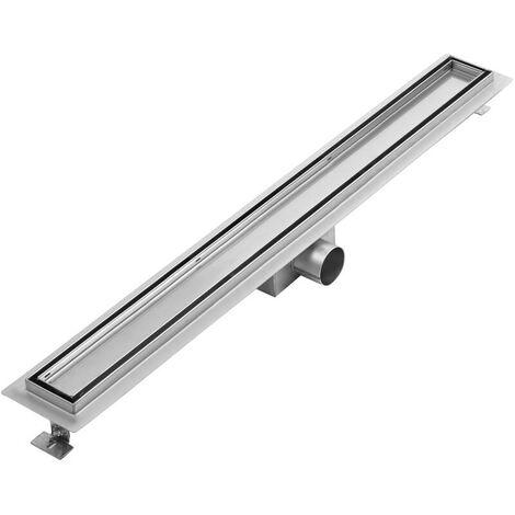 "main image of ""Milano – Tile Insert Stainless Steel Shower Drain - 800mm Channel"""
