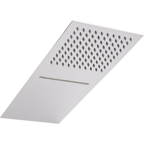 Milano Trenton Shower Head - Stainless Steel Rainfall & Water Blade Fixed Overhead Shower