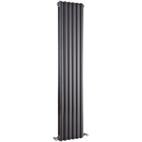 Milano Urban - Modern Anthracite Vertical Double Panel Column Radiator - 1800mm x 383mm