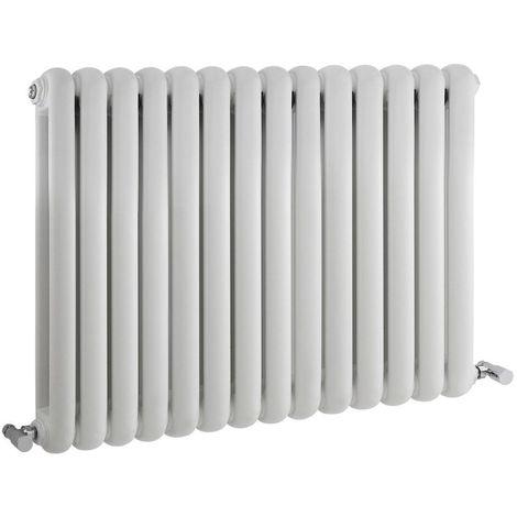 Milano Urban - Modern White Horizontal Double Panel Column Radiator - 635mm x 863mm