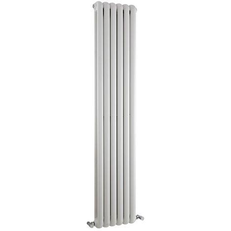 Milano Urban - Modern White Vertical Double Panel Column Radiator - 1800mm x 383mm