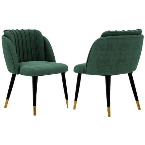 Milano Velvet Chair | Gold Tips | Living Room | Office Chair | Dining Chair | Velvet Chair |