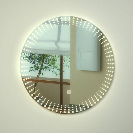Milano Vistula - 10W LED Round IP44 Bathroom Mirror with Touch Sensor