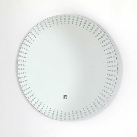 Milano Visula Espejo de Baño Redondo LED 10W con Sensor - IP44 Resistente al Agua