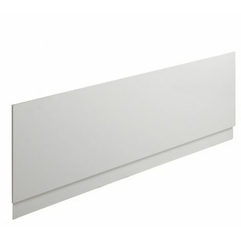 Milano – White Modern Bathroom Straight Bath Front Panel – 1500mm