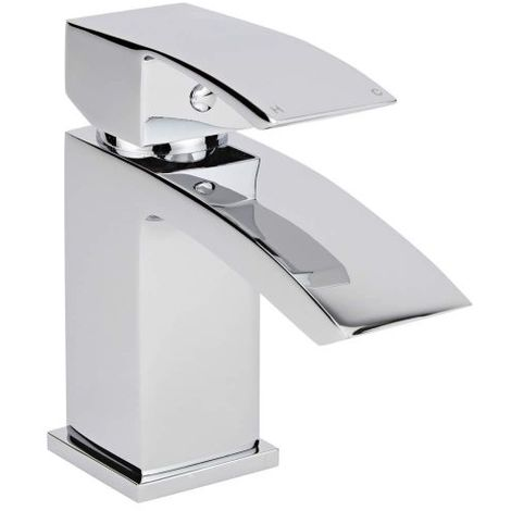 Milano Wick - Modern Bathroom Mono Basin Mixer Tap - Chrome