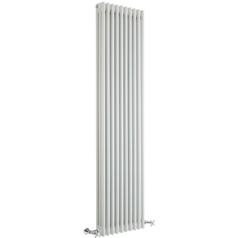 Milano Windsor - 1800mm x 470mm Traditional Cast Iron Style Triple Column Vertical Radiator – White