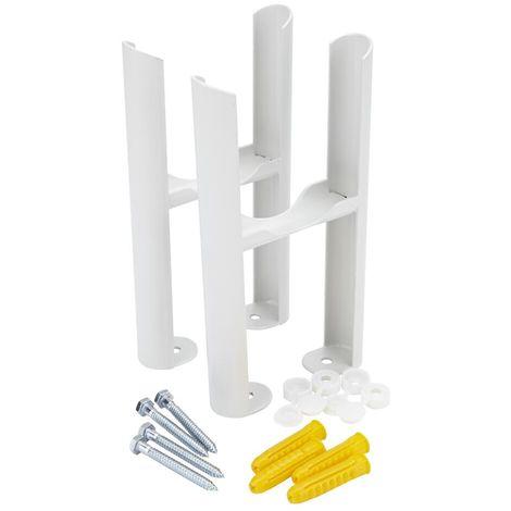 Milano Windsor - Traditional 3 Column Radiator Floor Mounting Feet Kit - White