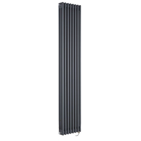Milano Windsor - Traditional Anthracite Vertical Triple Column Electric Radiator with Choice of Thermostat - 1800mm x 380mm