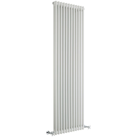 Milano Windsor - Traditional White 2 x 12 Column Radiator - Vertical Cast Iron Style - 1800mm x 560mm