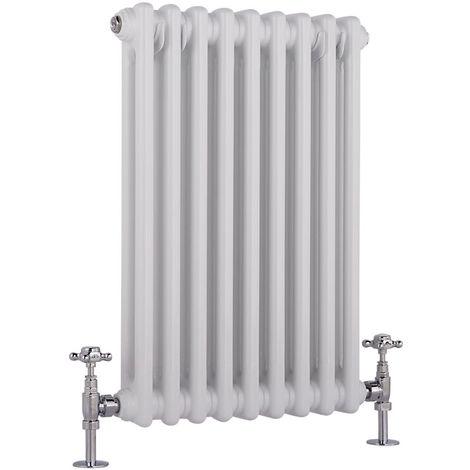 Milano Windsor - Traditional White 2 x 9 Column Radiator - Horizontal Cast Iron Style - 600mm x 425mm