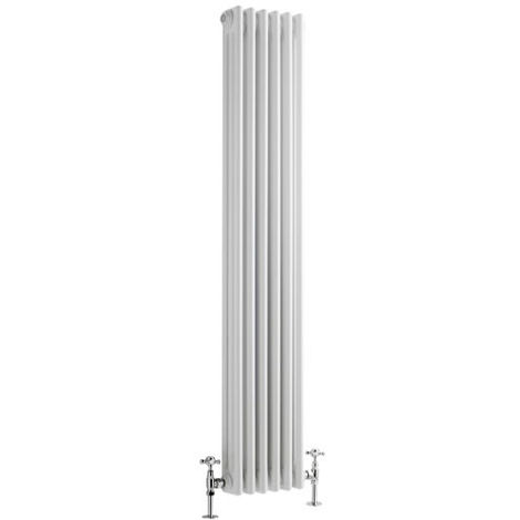 Milano Windsor - Traditional White 3 x 6 Column Radiator - Vertical Cast Iron Style - 1500mm x 290mm