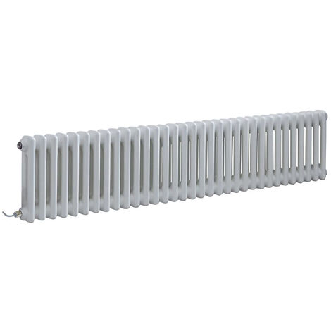 Milano Windsor - Traditional White Horizontal Double Column Electric Radiator with Choice of Thermostat - 300mm x 1505mm