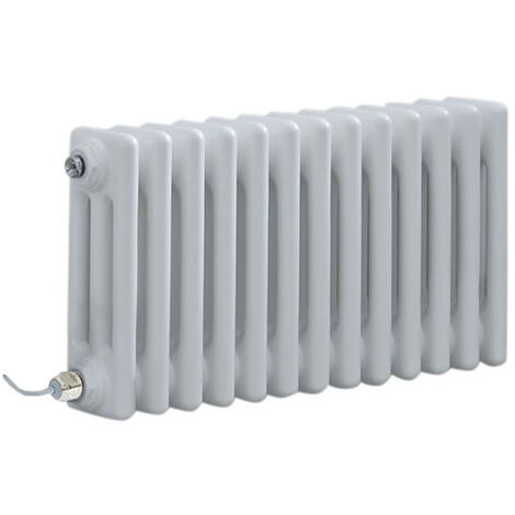 Milano Windsor - Traditional White Horizontal Triple Column Electric Radiator with Choice of Thermostat - 300mm x 605mm