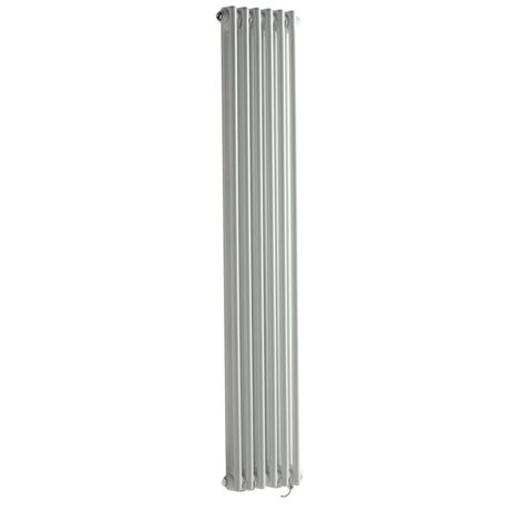 Milano Windsor - Traditional White Vertical Double Column Electric Radiator with Choice of Thermostat - 1500mm x 290mm