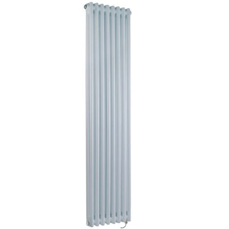 Milano Windsor - Traditional White Vertical Double Column Electric Radiator with Choice of Thermostat - 1500mm x 380mm