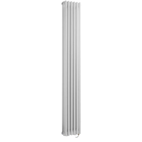 Milano Windsor - Traditional White Vertical Triple Column Electric Radiator with Choice of Thermostat - 1800mm x 290mm