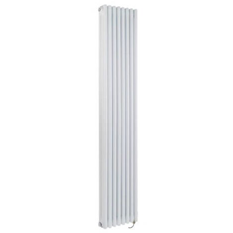 Milano Windsor - Traditional White Vertical Triple Column Electric Radiator with Choice of Thermostat - 1800mm x 380mm