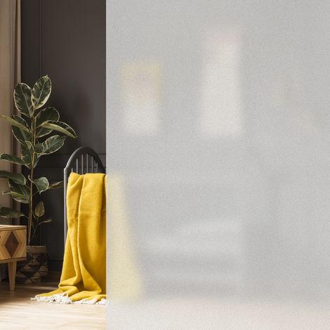 Milchglasfolie 90 x 200 cm, statisch haftend, blickdicht, Sichtschutz für Scheiben, Fenster-Folie,PVC, milchig