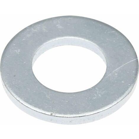 Mild Steel Flat Washers, Metric, Zinc Plated