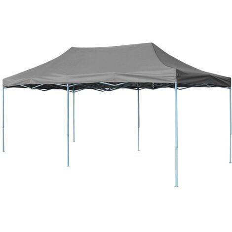 Milena 3m x 6m Steel Pop-Up Party Tent by Dakota Fields - Anthracite