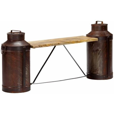 Milk Bottle Bench 150x33x64 cm Solid Mango Wood