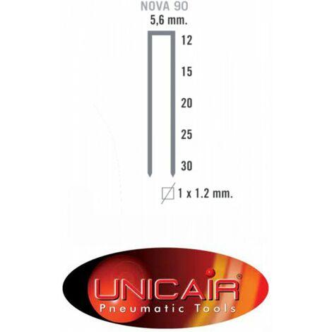 Millares de grapas tipo 90 de 5.6 x 12 mm (10 unidades) Unica