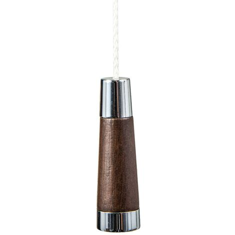 Miller Chrome & Oak Conical Light Pull