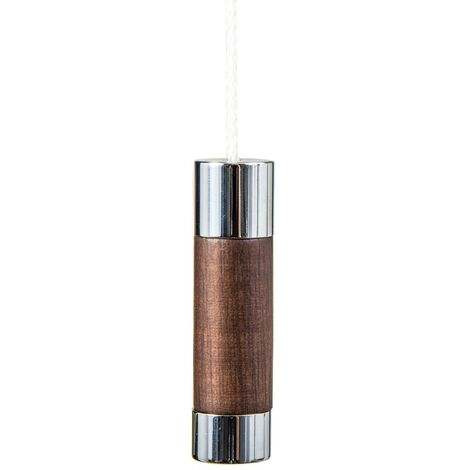Miller Chrome & Oak Cylindrical Light Pull