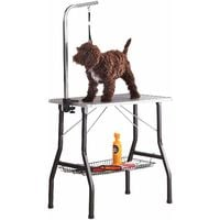 "Milo & Misty 30"" Small Grooming Table. Non-slip Surface, Portable Folding Dog/Cat/Pet with Stainless Steel, Adjustable Arm & 50cm Noose"