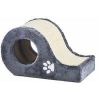 Milo & Misty Cat Hide & Scratch Curve - Kitten Scratching Post, Bed & Activity Centre