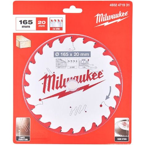 Milwaukee 165mm 20B 24T TCT Circular Saw Blade