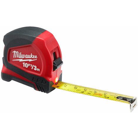 Milwaukee 48226602 LED Tape Measure 3m/10ft (Width 12mm)