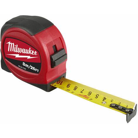 Milwaukee 48227726 Slimline Tape Measure 8m/26ft (Width 25mm)