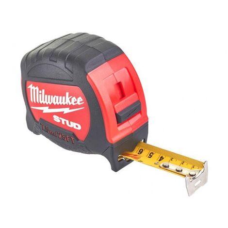 Milwaukee 48229926 STUD Tape Measure 7.5m/25ft Width 27mm