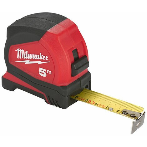 Milwaukee 4932459593 Pro Compact Tape Measure 5m (Width 25mm) (Metric Only)
