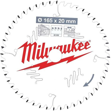 Milwaukee 4932471295 165x20mm 48t Circular Saw Blade